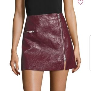 Blank NYC Patent Skirt Red Wine